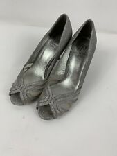 Adrianna Papell Silver Wedding Heels - Only Worn Once! Size 6 1/2