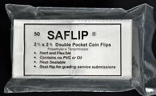 100   NEW SAFLIP 2 1/2 X 2 1/2 Coin Flip