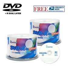 100-Pack SmartBuy Logo Top Surface DVD+R DL 8X Dual Layer 8.5GB Recordable Disc