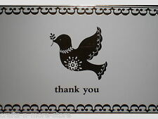 "Metallic Gold Dove ""Thank You"" Note Cards w/ Envelopes"