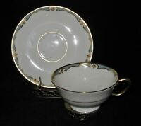 Lenox China, MEREDITH F-505, Turquoise, Cup & Saucer Set