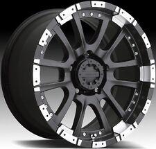 17x9 Advanti Racing Roccia 8x165.1 ET-12 Matte Black Rims Wheels