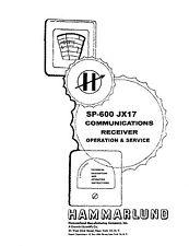 Hammarlund SP-600 JX17 Operation & Service Manual Reprint + Bulletin