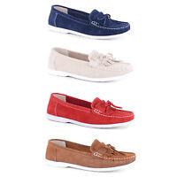 New Ladies Comfy Flat Slip On Moccasins Pumps Flats Shoes Sizes UK 3 4 5 6 7 8
