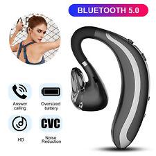 Bluetooth 5.0 Earpiece Wireless Headset Hands-free Calling w/ Clear Voice Earbud