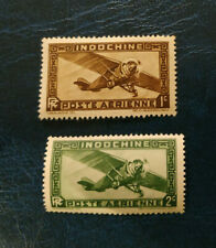 "Indochine - France-1933 Airmail - Inscription: ""RF"" - avion - neuf**"
