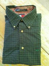 TOMMY HILFIGER Mens Blackwatch Plaid Button Down Shirt Size Large