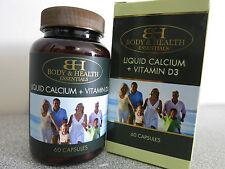 Body & Health Liquid Calcium + Vitamin D3 60 Capsules