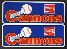 2 1985 Calgary Cannons Team Logo Stickers PCL