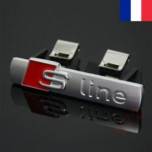Clip Emblème Calandre Sline Chrome Avant Grille Logo Badge Chrome A1 A3 A4 A5 Q2