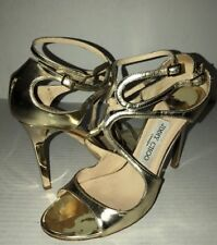Jimmy Choo Lang Metallic Strappy Sandal Gold Euro 38