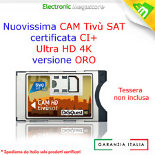 CAM TivuSat HD CERTIFICATA TV SAT SMARCAM HD MARCA DIGIQUEST SENZA SMART CARD