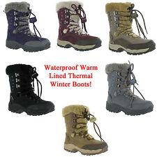 Hi-Tec St Moritz Waterproof Thermal Warm Snow Fur Boots Womens Size 3-9 UK