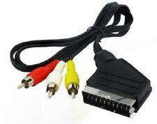 Cavo Adattatore Collegamento Presa SCART - 3 RCA Premium Ps3 Tv lungh 1,5m hsb