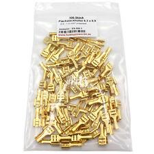 100 Kabelschuhe Kabelstecker 6,3mm unisoliert blank 0,5 - 1,5 Flachsteckhülse
