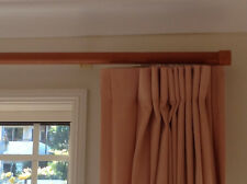 Drapes pinch pleat light peach color with backing timber track and runners
