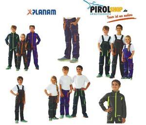 Planam Kinder Arbeitshose Latzhose oder Softshell Jacke zur Auswahl Junior