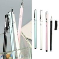 Signature Pen Broad Metallic Gel Rollerball 0.5mm ink Metal Black Sale A7O5