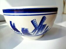 Dutch Delf Blue and White Bulb Bowls x8