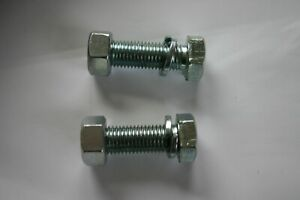 m16 x 50 tow bar fully threaded bolts 8.8  with spring washers and nuts