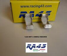 1/24 Set 2 sedile seat Racing Rally