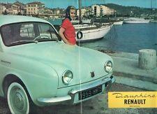 Renault Dauphine 1958-59 UK Market Sales Brochure