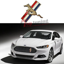 Grille Running Pony Horse Tri-Bar Metal Emblems Badge Logo for Mustang GT Fusion