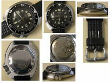 Vintage Seiko divers 6105 8110 stainless steel waffle strap serviced