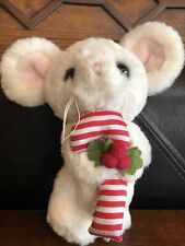 """New listing The Bearington Collection Stuffed Plush 7"""" Jointed Christmas Mouse"""
