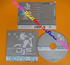 CD FOR DJS ONLY TECHNO 1 compilation 2003 SCOOTER FRANCHINO PLUMMED (C41)