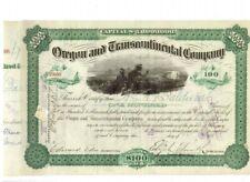 Oregon and Transcontinental Company  1884