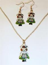 Enamel Yellow Gold Plated Costume Necklaces & Pendants