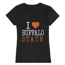 Buffalo State College Bengals I Love Women's Tee NCAA Tee T Shirt