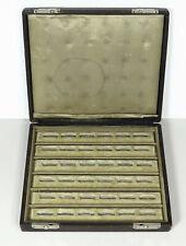 Vintage 36 Slot Ring Shop Display Case Tray Box Hinged Lid Jewelry Organizer