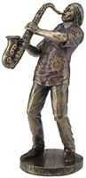 "8"" Jazz Band Casual Saxophonist Player Musician Decor Music Sculpture"