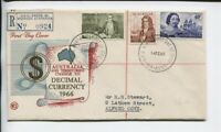 1966 Australia and Territories Change to Decimal Currency 1966 Perth FDC N-981