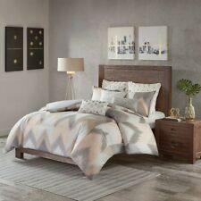 Full/Queen Alpine Cotton Comforter Mini Set Pine, Mid-Century Modern Brown Pink