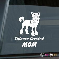 Chinese Crested Mom Sticker Die Cut Vinyl - Puff