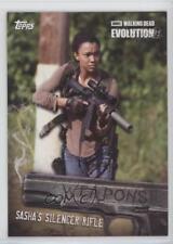 2017 Topps The Walking Dead Evolution W-6 Sasha Williams Silencer Rifle Card 3l2
