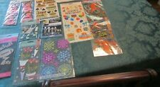 10 Packages Scrapbooking Stickers by Martha Stewart, Jolee and other brands
