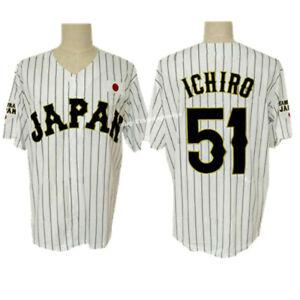 Ichiro Suzuki #51 Japan National Team Baseball Jersey Stitched Seattle Shirt