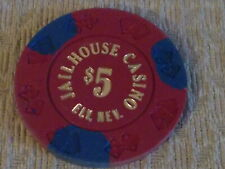 Jailhouse Casino $5 hotel casino gaming poker chip ~ Ely, Nv