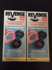 (2) Revenge Refill Packs 24 Pads Mosquito Destroyer