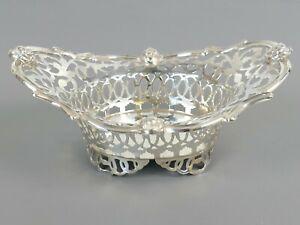 Antique Solid Silver Pierced BonBon Dish 61.5g London 1905 Sibray Hall      |79