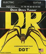 DR DDT7-11 Electric Guitar Strings drop down tuning medium 7-string set 11-65