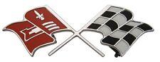 1960 60 Chevy Impala Belair Biscayne Trunk Emblem Crossed Flags 348 Flag