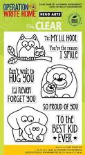 Lil Hoot Hero Arts Animal Sentiment Poly Clear Acrylic Stamp Set CL755 Owl Bear