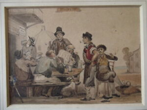WILLIAM DANIELS of Liverpool Antique Watercolour Painting THE REFORM BILL