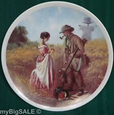 "Carl Spitzweg Hunter Dog Shotgun Girl Peinliches Verhör Collector 8""Plate German"