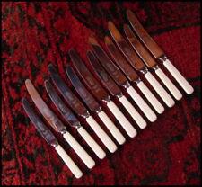 Vintage M Bernard Sheffield Faux Bone Handle Knives x12 - x6 Dinner, x6 Entree
